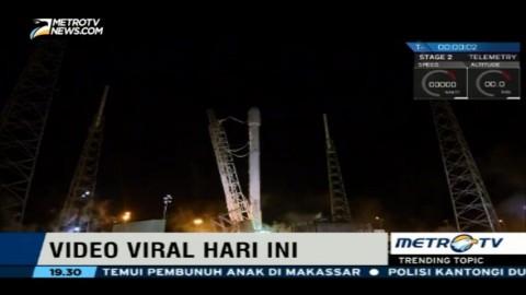 Pendaratan Roket SpaceX Falcon 9 Sukses