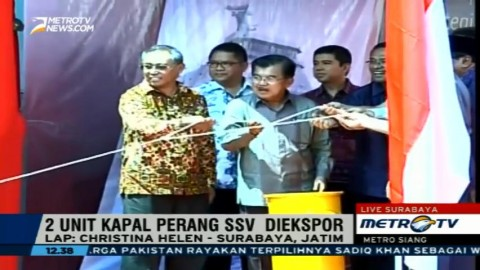 JK Lepas Ekspor Perdana Kapal Perang Indonesia