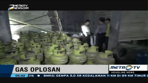 Polisi Gerebek Lokasi Pengoplosan Elpiji di Boyolali