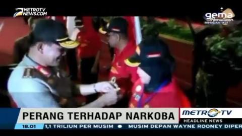Kapolri Lantik 10.000 Satgas Antinarkoba se-Provinsi Lampung