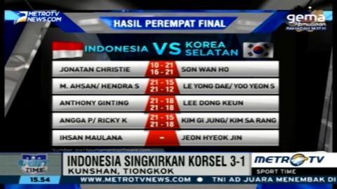Singkirkan Korsel, Tim Thomas Indonesia Lolos ke Final