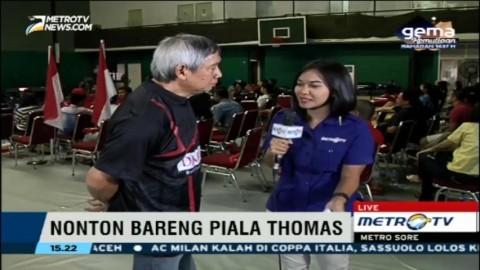 Christian Hadinata Ikut Nobar Final Piala Thomas