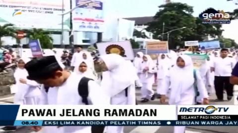 Pelajar Aceh Ikuti Pawai Jelang Ramadan