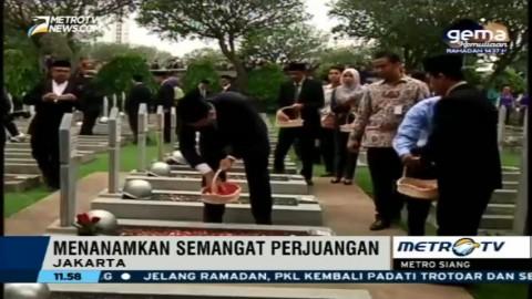 Jelang HUT Jakarta, Ahok Ziarah ke TMP Kalibata