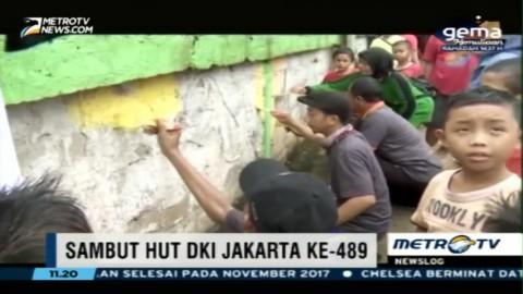 Bersih-bersih Sambut HUT DKI Jakarta ke-489