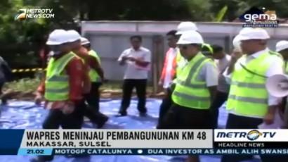JK Tinjau Pembangunan Jalan Layang Trans Sulawesi