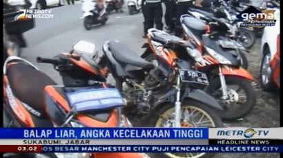 Polisi Razia Balap Liar di Sukabumi
