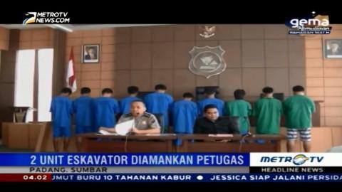 Polisi Tangkap Sepuluh Penambang Emas Ilegal