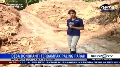 Akses Jalan Menuju Lokasi Longsor Purworejo Sulit Ditempuh