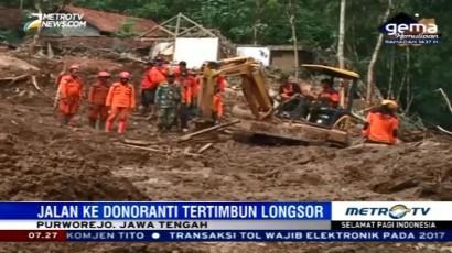 Kondisi Tanah di Purworejo Rawan Longsor