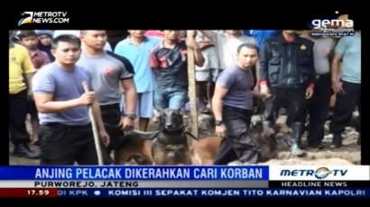 Anjing Pelacak Dikerahkan untuk Cari Korban Longsor Purworejo