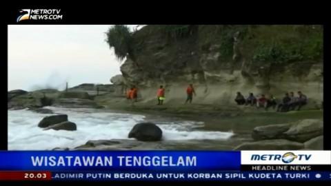 Wisatawan Asal Sragen Hilang Terseret Ombak di Pantai Klayar