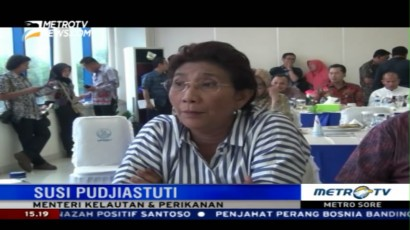 Menteri Susi Sidak Tempat Pelelangan Ikan di Muara Baru