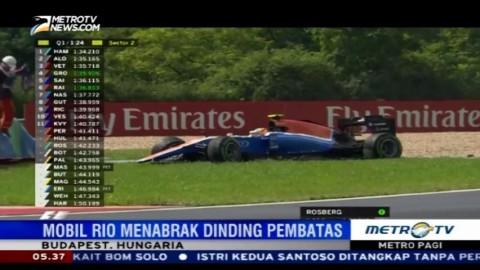 Rio Haryanto Tergelincir di Kualifikasi GP Hungaria