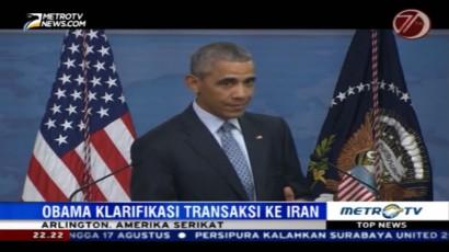 Obama Klarifikasi Soal Aliran Dana ke Iran