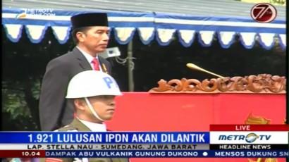 Jokowi Tiba di IPDN Sumedang