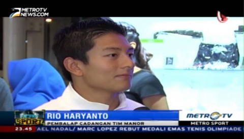 Komentar Rio Haryanto Usai Jadi Pembalap Cadangan Tim Manor
