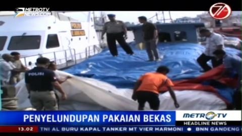 Penyelundupam 35 Ton Pakaian Bekas Asal Malaysia Digagalkan