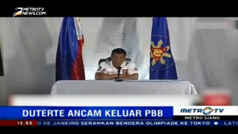 Dikritik, Duterte Ancam Keluarkan Filipina dari PBB