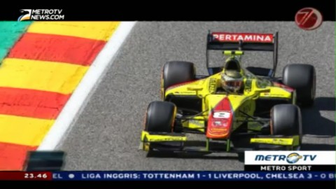 Sean Gelael Finis Posisi 18 pada <i>Feature Race</i> GP2 Belgia