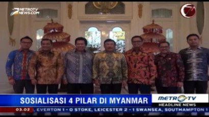 Delegasi MPR Sosialisasi 4 Pilar di Myanmar