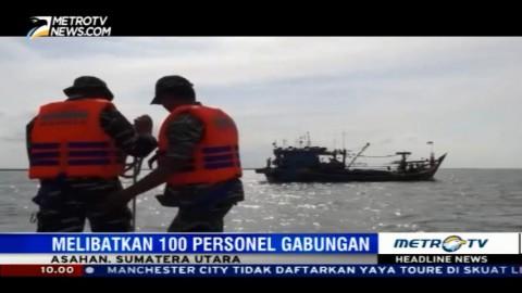 Petugas Tangkap Dua Kapal Tanpa Dokumen di Perairan Asahan