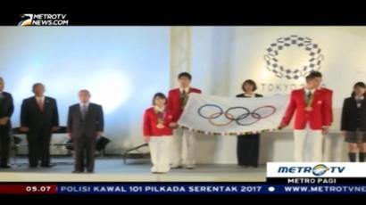 Jepang Kenalkan Bendera Olimpiade 2020