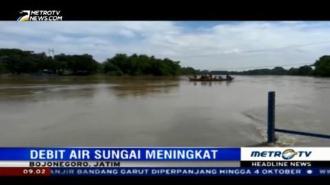 Debit Sungai Bengawan Solo di Bojonegoro Meningkat
