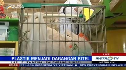 Sejumlah Ritel di Palembang Masih Terapkan Kantong Plastik Berbayar