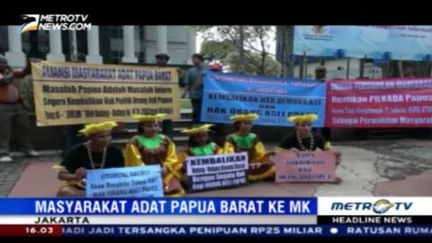 Gugat Isi UU Pilkada, Masyarakat Adat Papua Barat Datangi Gedung MK