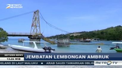 Jembatan Kuning Roboh Diduga Karena Kelebihan Beban