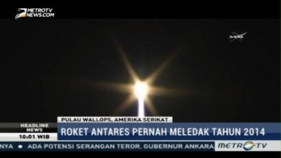Roket Antares Lepas Landas dari Pulau Wallops