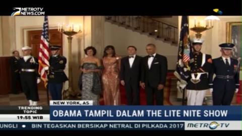 Sambut PM Italia, Michelle Obama Gunakan Gaun Karya Versace