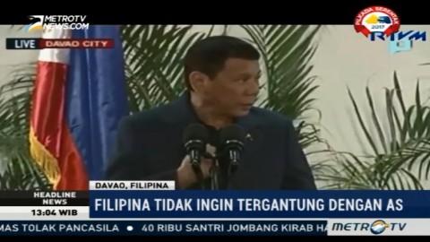 Duterte Bantah Ingin Filipina Berpisah dengan AS
