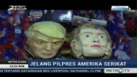 Topeng Hillary & Trump Banyak Diburu Pembeli Jelang Halloween
