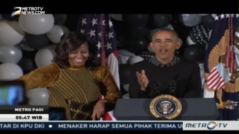 Obama Rayakan Halloween Bersama Ratusan Anak