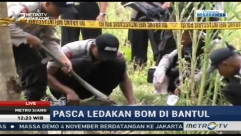 Polisi Masih Berjaga di Lokasi Ledakan Bom Bantul