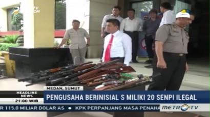 Polisi Sita 20 Senpi Ilegal Milik Pengusaha di Aceh