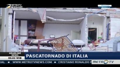 Apartemen Alami Kerusakan Parah Pascatornado di Italia