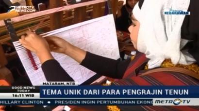 Kain Tenun Lombok Pakai Pewarna Alami yang Ramah Lingkungan