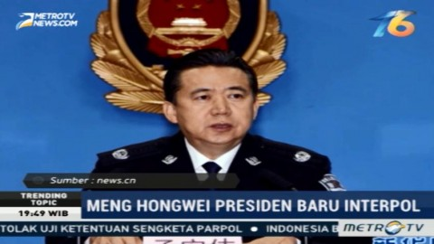 Meng Hongwei Terpilih Jadi Presiden Baru Interpol