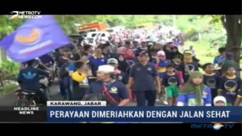 Ribuan Warga Karawang Ikuti Jalan Sehat HUT ke-5 Partai NasDem