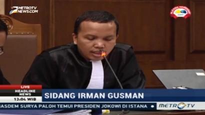 JPU Minta Hakim Tolak Nota Keberatan Irman Gusman