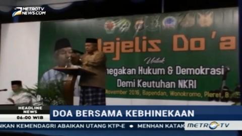 Ratusan Warga Bantul, TNI dan Polri Gelar Doa Bersama