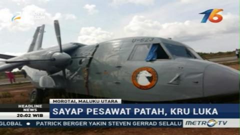 Pesawat Latih TNI AL Tergelincir di Morotai