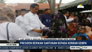 Jenguk Korban Gempa, Jokowi Beri Santunan Rp5 Miliar