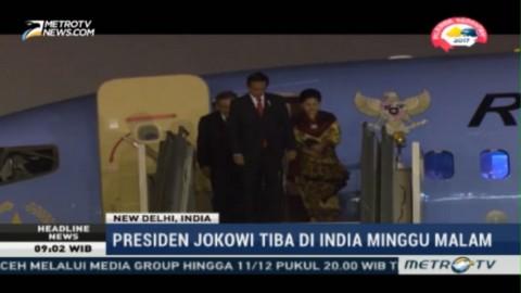 Presiden Jokowi Tiba di India
