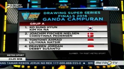 Drawing BWF Superseries Finals 2016