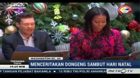Michelle Obama dan Ryan Seacrest Mendongeng