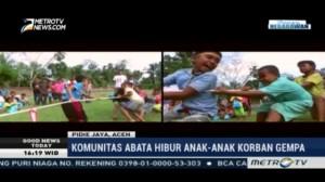Komunitas Abata Hibur Anak-anak Korban Gempa Aceh